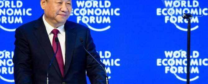Xi Jinping, President of the People's Republic of China speaking at the Annual Meeting 2017 of the World Economic Forum in Davos, January XX, 2017 Copyright by World Economic Forum / Manuel Lopez